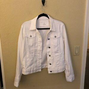 Size medium white jeans jacket -the Limited